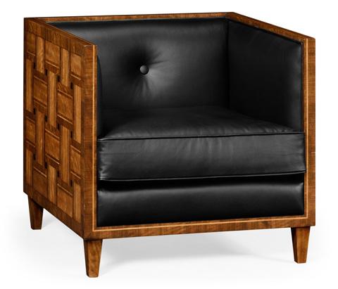 Jonathan Charles - Club Chair with Woven Inlay Design - 495181