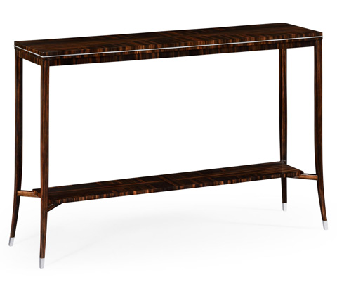 Jonathan Charles - Soho Narrow Console with White Brass Detail - 495186
