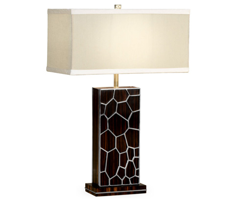 Jonathan Charles - Soho Table Lamp with White Brass Detail - 495194