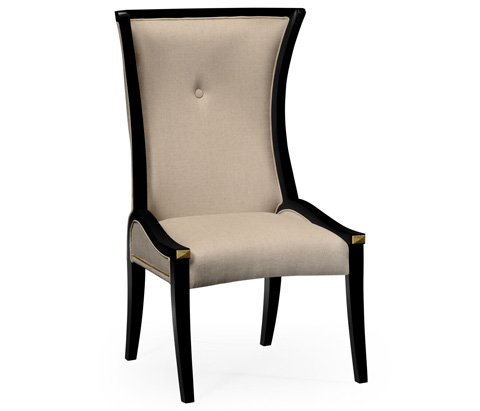 Jonathan Charles - Painted Black Cosmo Dining Side Chair - 495195-BLA-SC