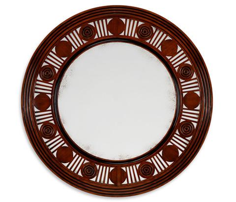 Jonathan Charles - Pen Stewart Round Mirror - 530049