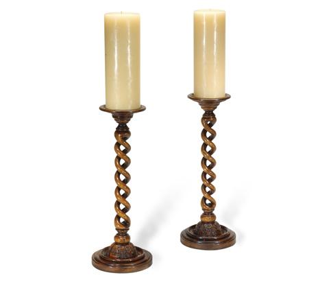 Jonathan Charles - Open Barley Twist Column Candlesticks - 492142