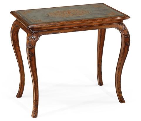 Image of Walnut and Églomisé Cabriole Side Table
