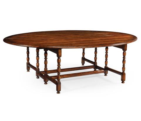 Jonathan Charles - Oval Walnut Gateleg Dining Table - 492750