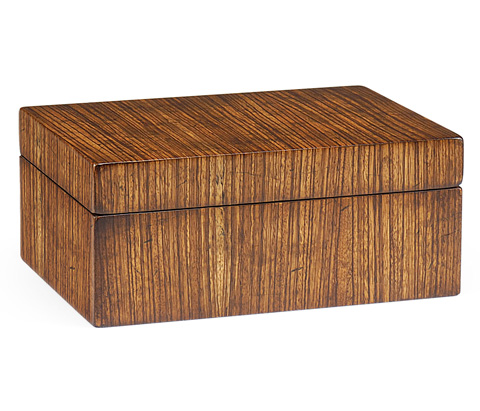 Image of Exotic Zebrano Rectangular Box