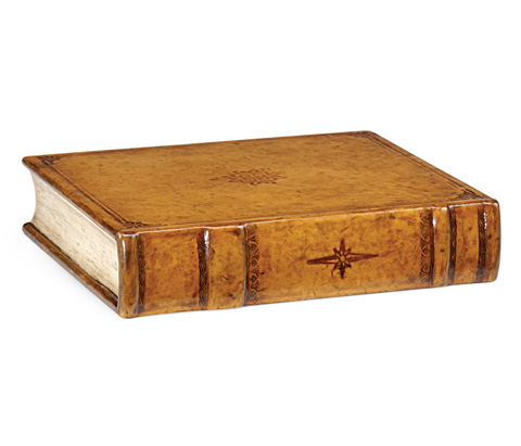 Jonathan Charles - Leather Faux Book Box - 492896