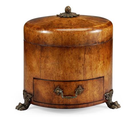 Image of Round Masur Birch Jewellery Box