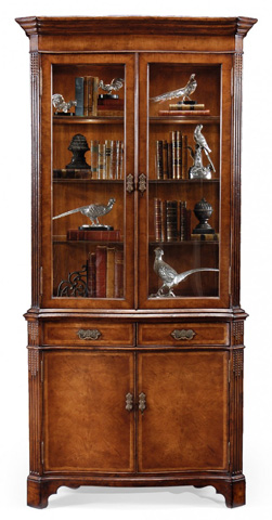 Jonathan Charles - Walnut China Cabinet - 493118