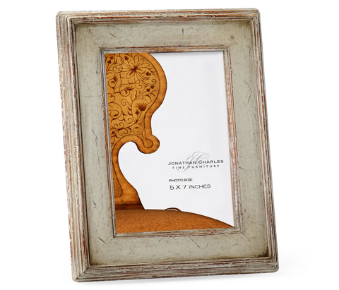 Jonathan Charles - Painted Rub-Through Picture Frame - 493306
