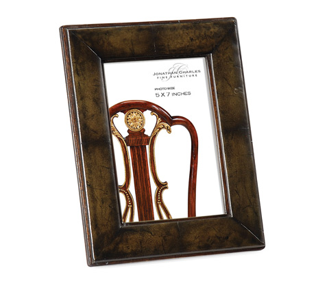 Image of Green Leather Picture Frame