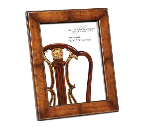 Image of Brown Leather Picture Frame