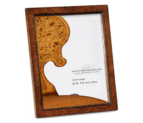 Jonathan Charles - Crotch Walnut Picture Frame - 493353