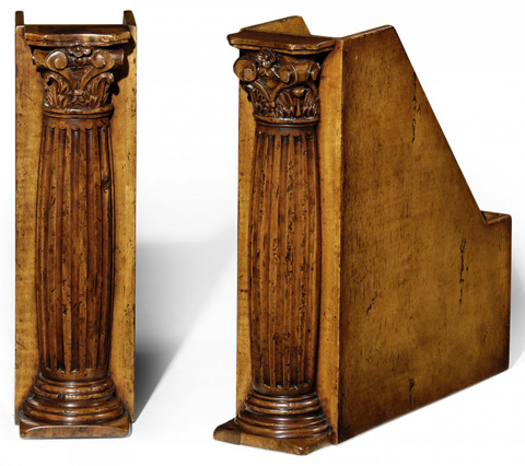 Jonathan Charles - Pair Of Box File Bookends - 493752