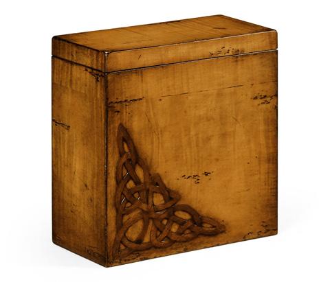 Image of Raised Celtic Veneer Tall Box