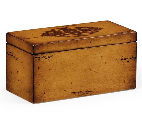 Image of Raised Celtic Veneer Narrow Rectangular Box
