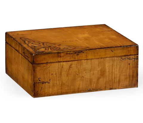 Image of Raised Celtic Veneer Rectangular Box