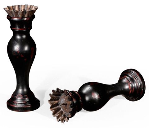 Jonathan Charles - Country Painted Candlestick - 493981