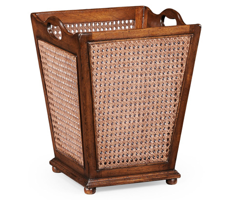 Jonathan Charles - French Style Caned Waste Basket - 493985