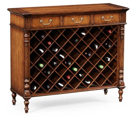 Jonathan Charles - Walnut Free Standing Wine Cabinet - 494009