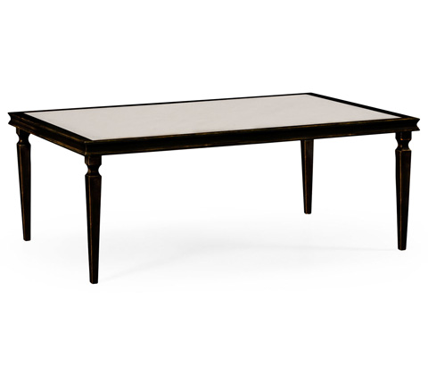 Jonathan Charles - Italian Bronze Rectangular Coffee Table - 494063-B
