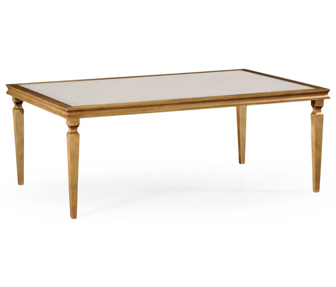 Jonathan Charles - Italian Gilded Rectangular Coffee Table - 494063-G