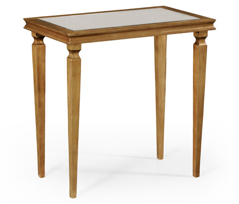 Image of Italian Gilded Rectangular Side Table