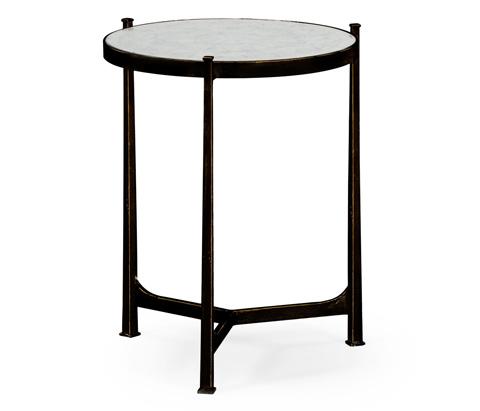 Jonathan Charles - Bronze Iron Lamp Table - 494080-B