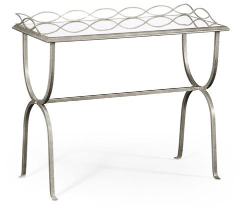 Jonathan Charles - Silver Iron Drinks Table - 494103-S
