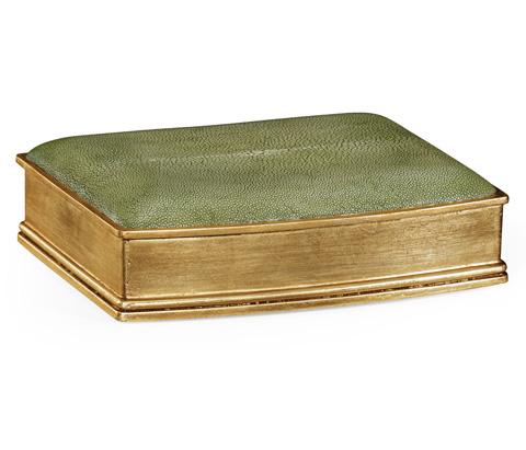 Jonathan Charles - Green Faux Shagreen Gilded Box - 494116-G