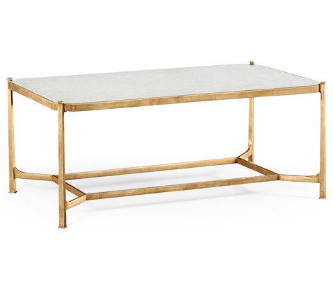 Jonathan Charles - Gilded Iron Rectangular Coffee Table - 494144-G