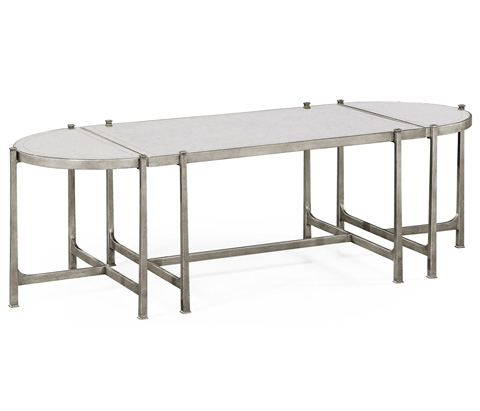 Jonathan Charles - Silver Iron Bunching Tables - 494148-S