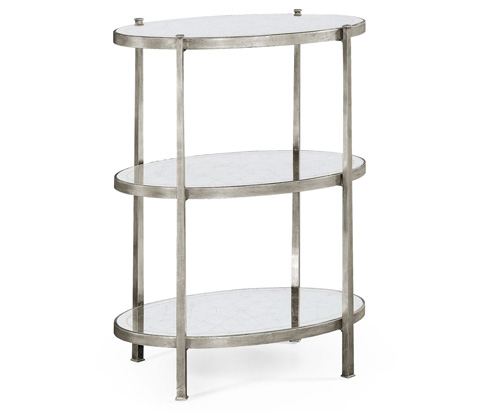 Jonathan Charles - Silver Iron Three-Tier End Table - 494171-S