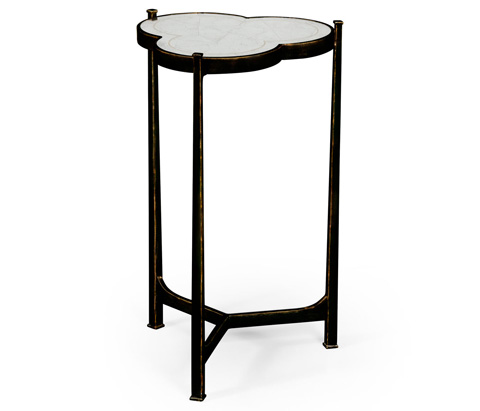 Jonathan Charles - Bronze Iron Trefoil Lamp Table - 494172-B