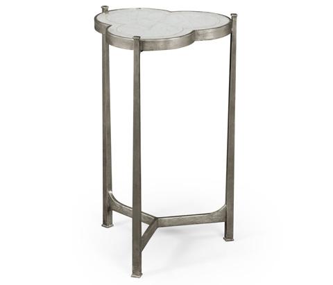 Jonathan Charles - Silver Iron Trefoil Lamp Table - 494172-S