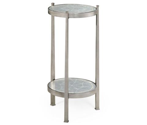 Jonathan Charles - Silver Iron Wine Table - 494173-S