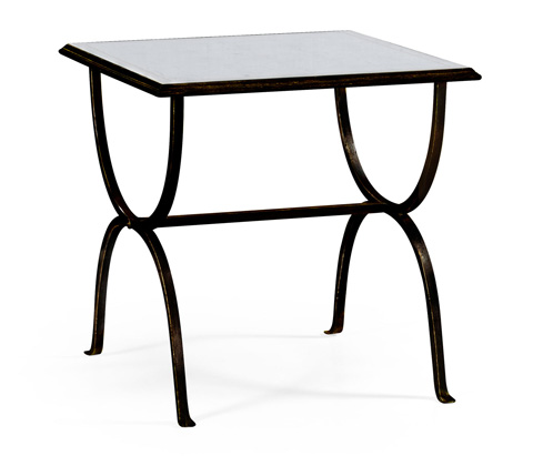 Jonathan Charles - Bronze Iron Square Side Table - 494175-B