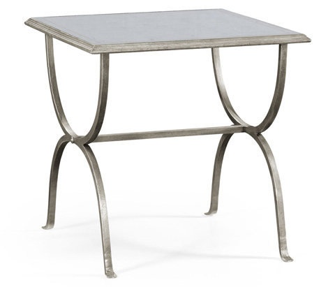 Jonathan Charles - Silver Iron Square Side Table - 494175-S