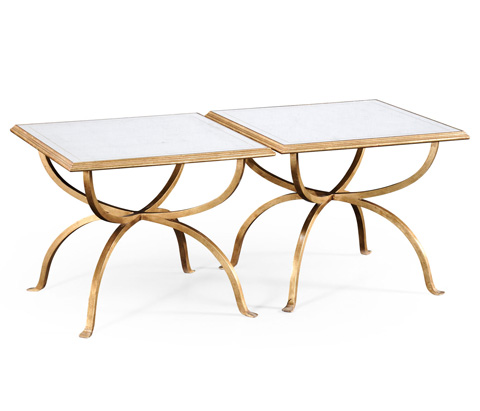 Image of Gilded Iron Set Two Tables