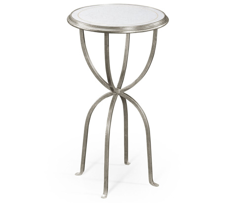 Jonathan Charles - Silver Iron Lamp Table With Bunched Legs - 494189-S