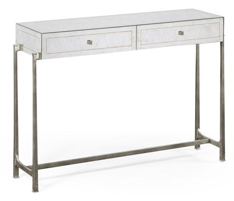 Jonathan Charles - Silver Iron Box Console - 494193-S