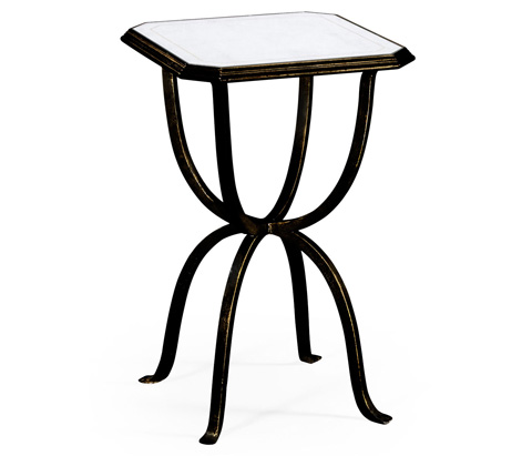 Jonathan Charles - Bronze Iron Octagonal Side Table - 494196-B