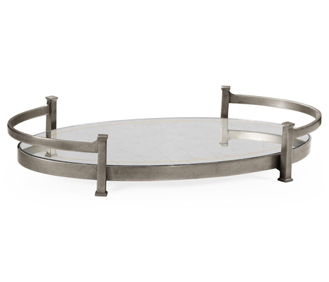 Image of Silver Iron Oval Tray