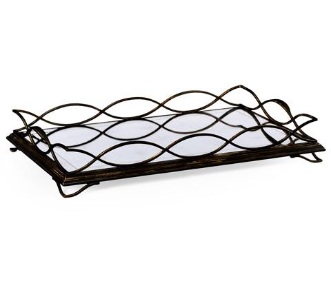 Jonathan Charles - Bronze Iron Rectangular Tray - 494201-B