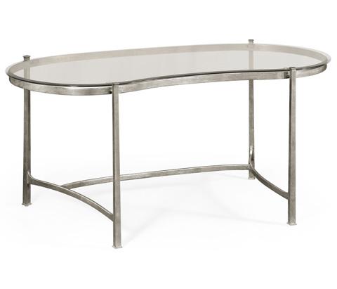 Jonathan Charles - Silver Kidney Desk - 494214-S