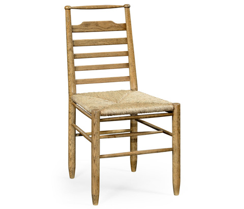 Image of Natural Oak Ladder Back Country Side Chair