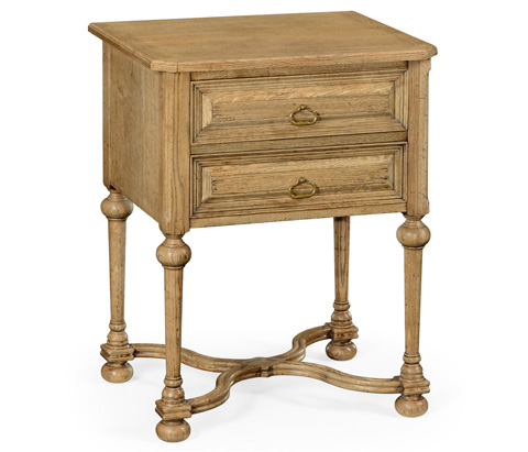 Image of Natural Oak Tudorbethan Side Table