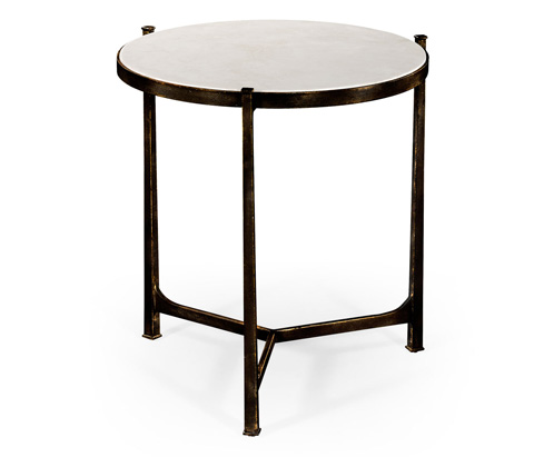 Jonathan Charles - Scagliola and Bronze Round Side Table - 494252-B