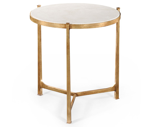 Jonathan Charles - Scagliola and Gilded Round Side Table - 494252-G