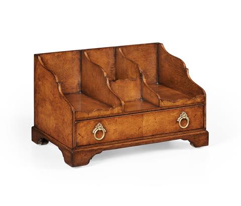 Image of Crotch Walnut Desk Organiser