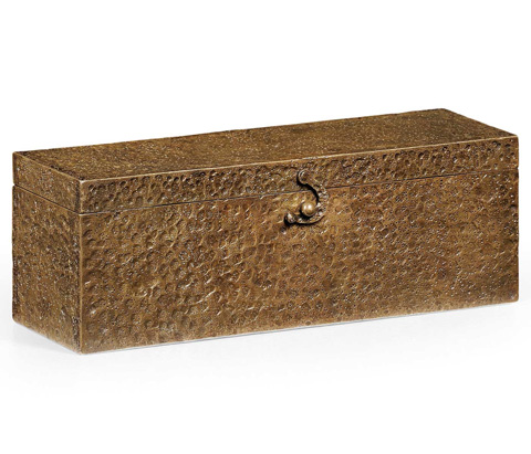Jonathan Charles - Rectangular Hand Hammered Brass Box - 494291